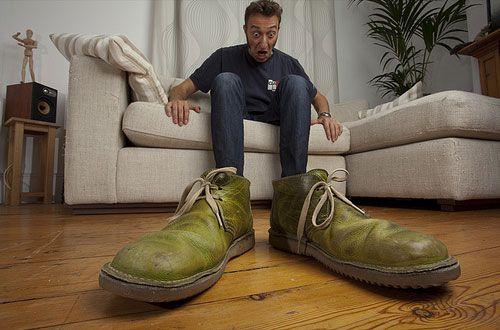 تخلص من رائحة الأحذية