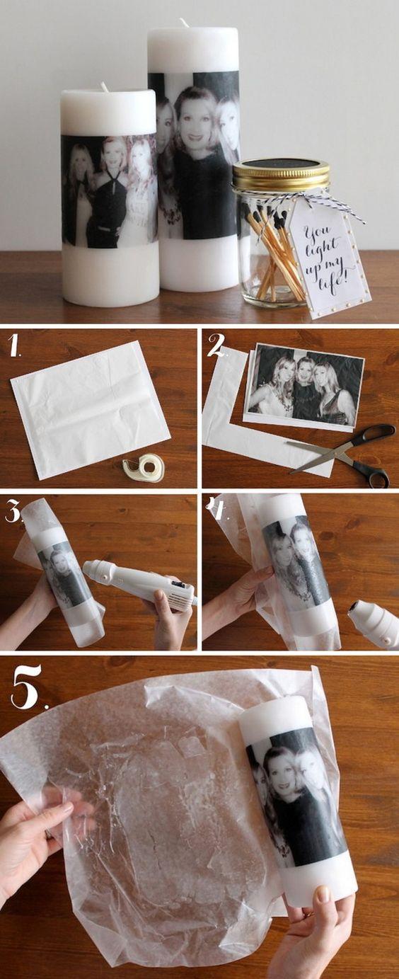 طباعة الصور على الشمع